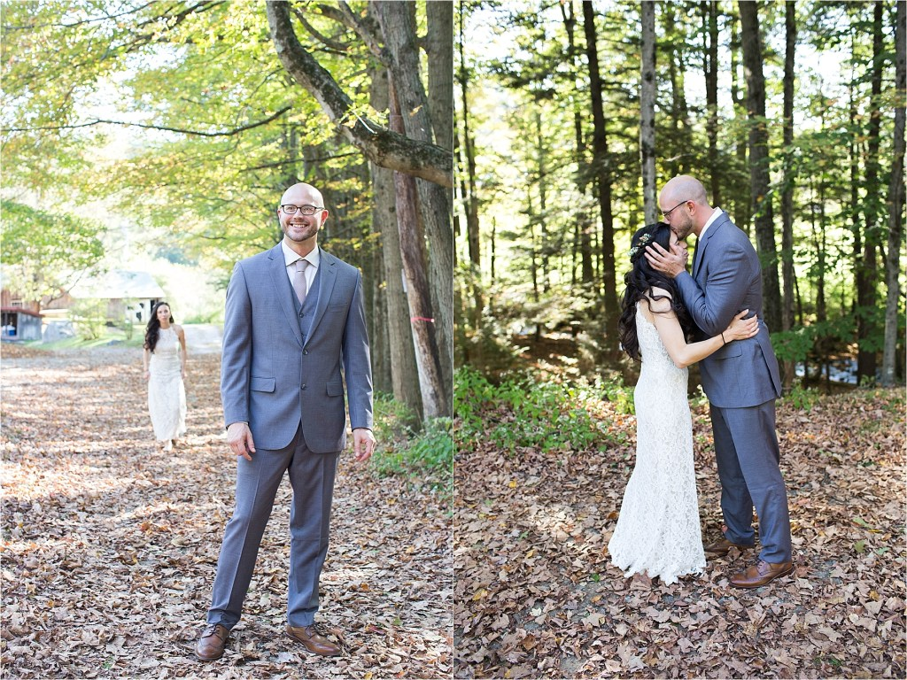 New Hampshire Wedding Photography First Look Stonewall Farm