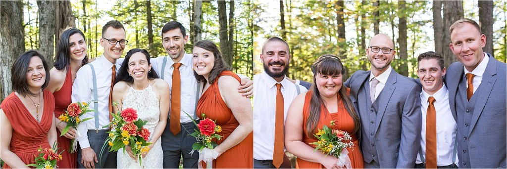 Stonewall Farm Keene NH Bridal Party September Wedding Photographer