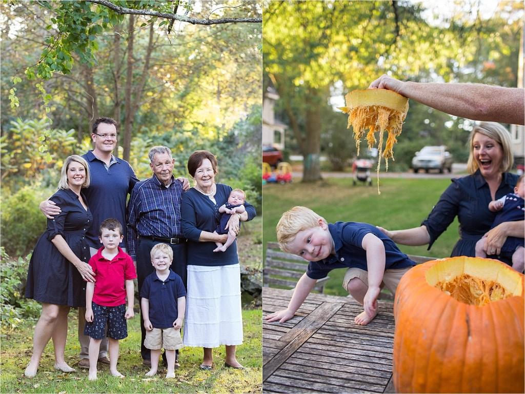 Family Fall Portrait New Hampshire