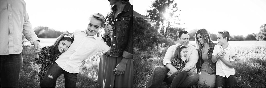 Family Portrait Black and White Picture Saco Old Orchard Beach Maine