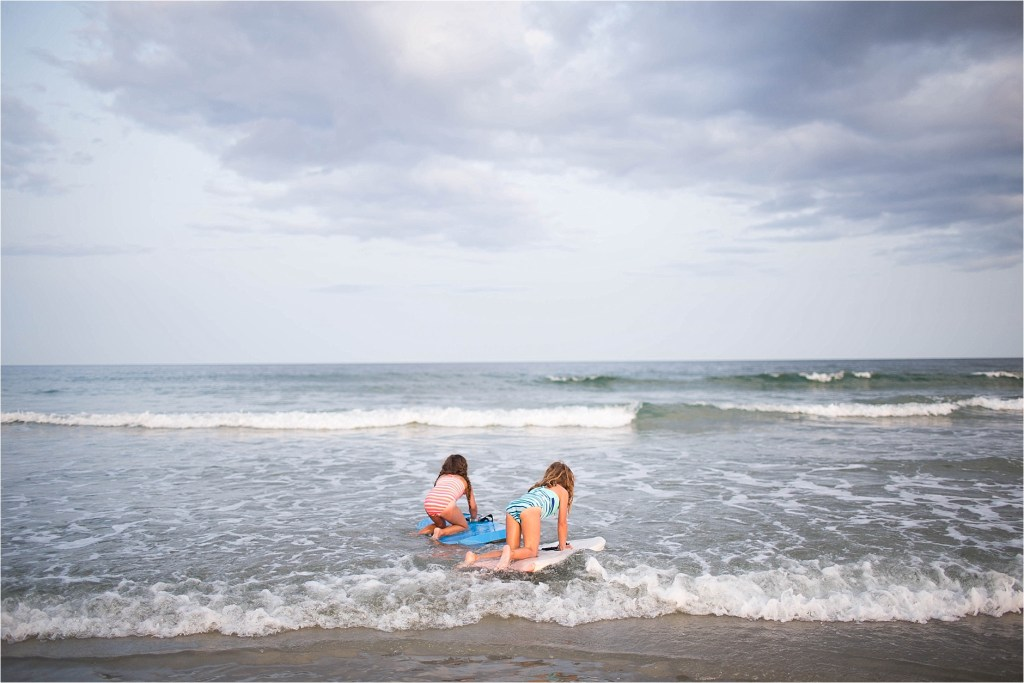 Wells Beach Family Photographer Sarah Jane Photography surfing in cold water