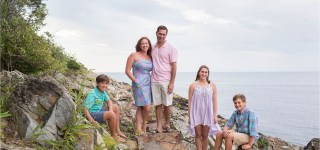Ogunquit Maine Family Photography Marginal Way Sarah Jane Photography Pastel Session