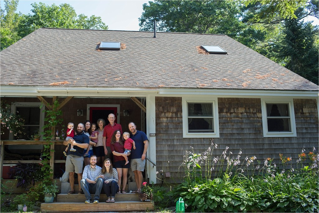 Extended Family Portrait Damariscotta Maine on the lake Sarah Jane Photography