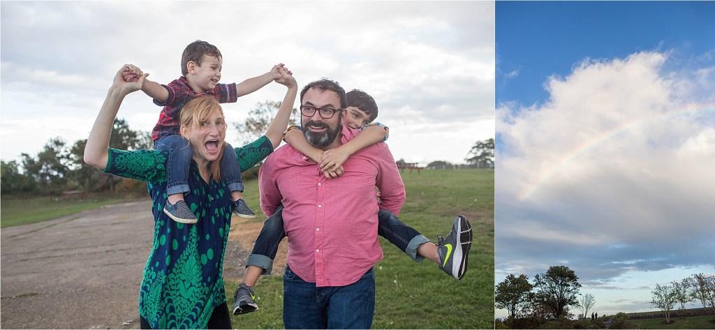 Rainy family portrait session cape elizabeth maine portland headlight Sarah Jane Photography