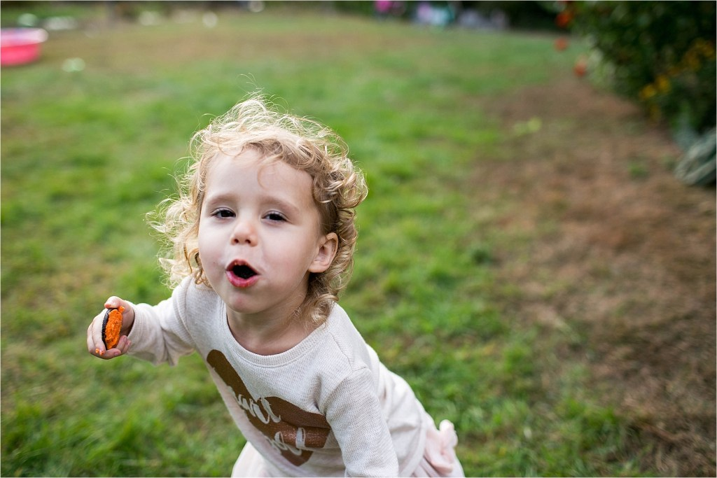 Kid eating cookies during session Sarah Jane Photography Maine