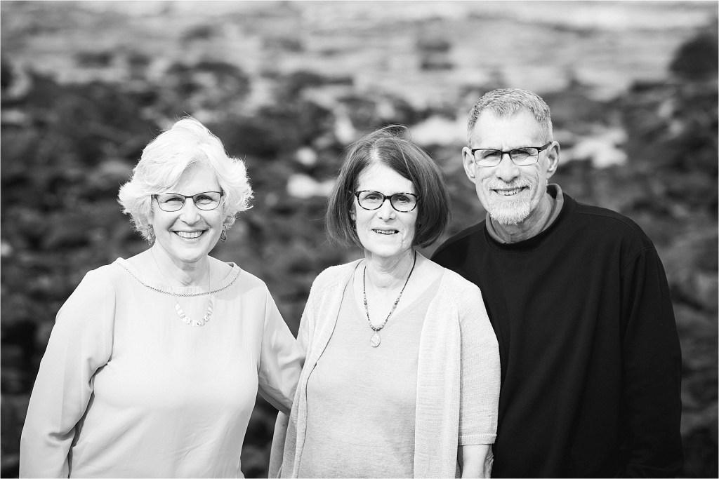 Black and White Family Portrait York Maine Family Photographer