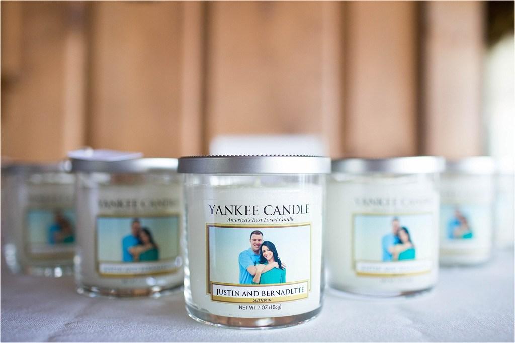 Custom Yankee Candle Wedding Favor Maine Wedding Photographer Pleasant Point Inn