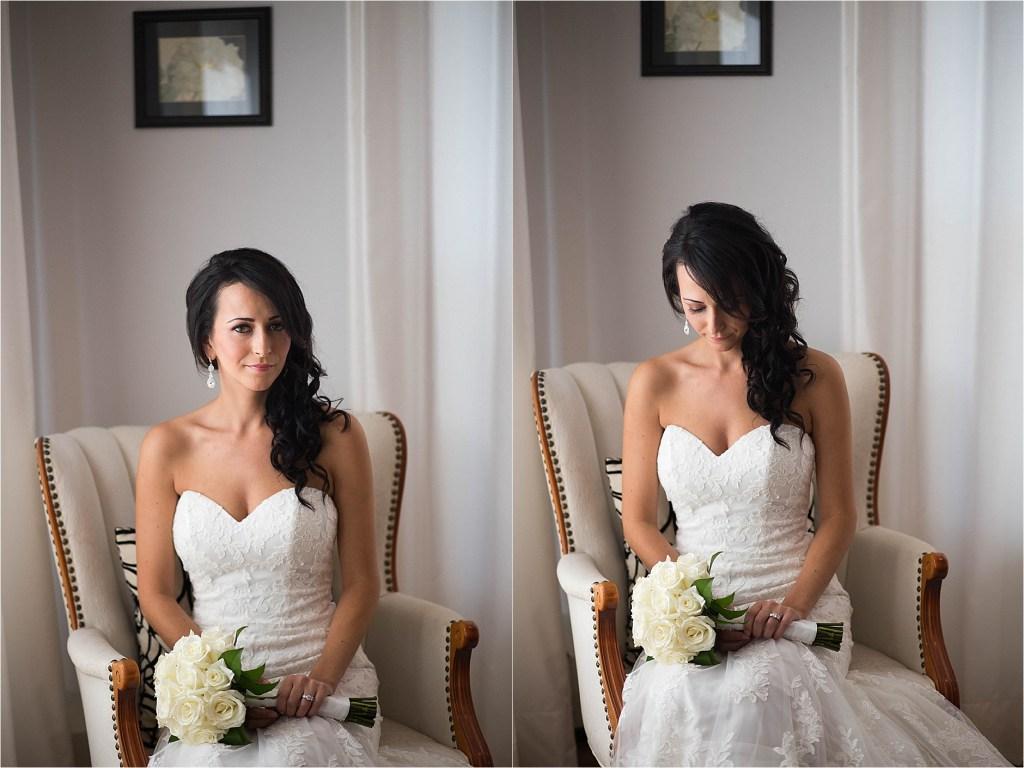 Color Bridal Portrait Maine Lakeside Wedding Photographer