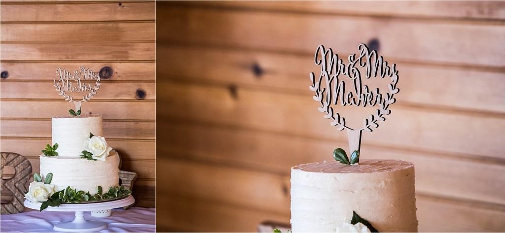 Riverstone Bakery Wedding Cake Wooden Cake Topper Pleasant Point Inn Maine