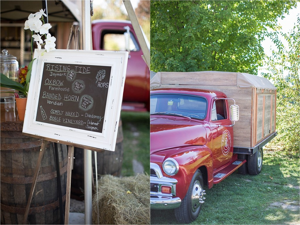 Rustic Taps and catering mobile bartending 1954 Chevy Maine Wedding Bartender