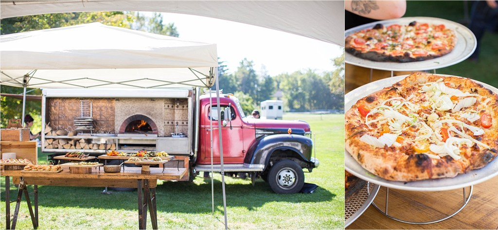 Fire and Co Wood Fired Pizza Maine Wedding Catering