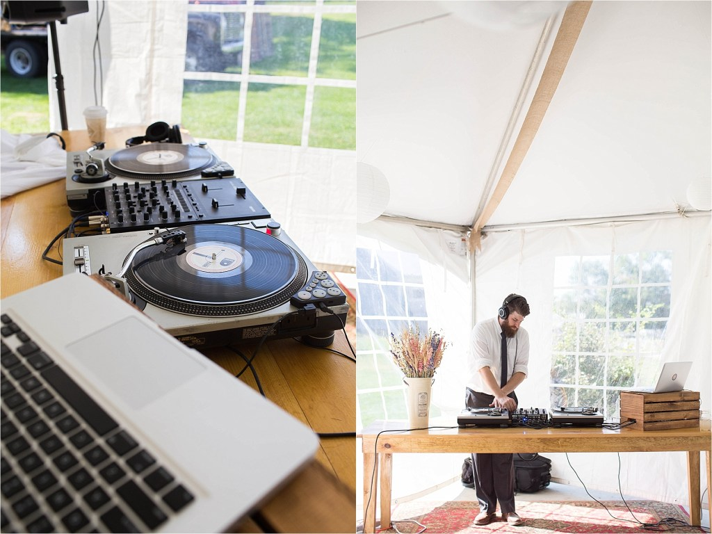 Maine Wedding DJ Tented Farm Wedding