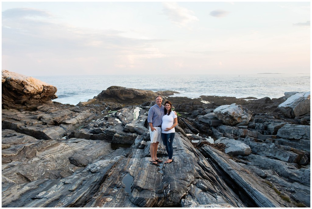 Pemaquid Point Lighthouse Maternity Session Maine Family Photographer