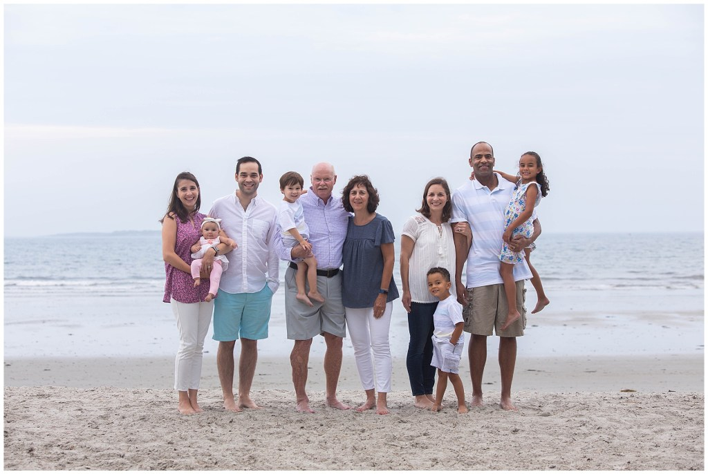 Old Orchard Beach Maine Family Portrait on the Beach