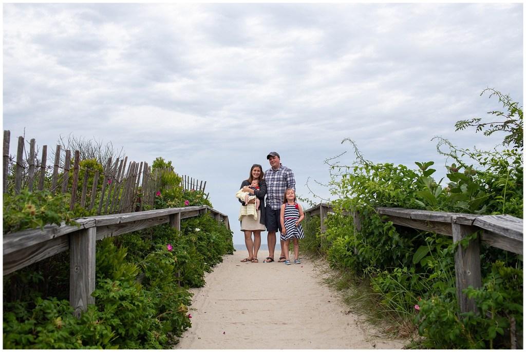 Footbridge Beach Family Portrait