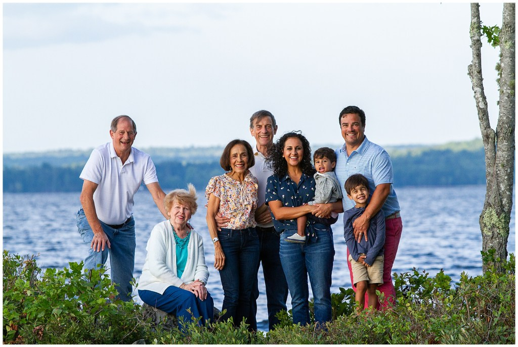 Extended Family Portrait on Damariscotta Lake