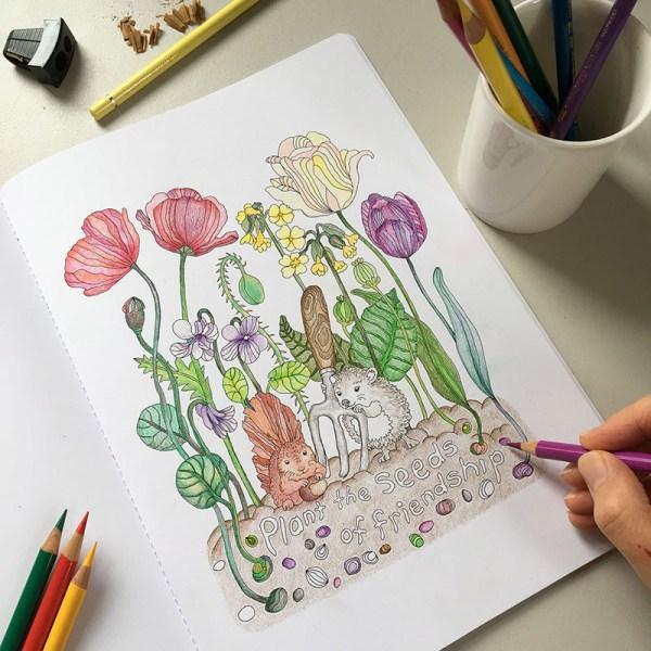Veronica's Garden colouring book