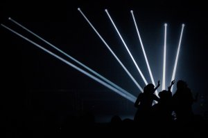 performers, dancing, silhouette
