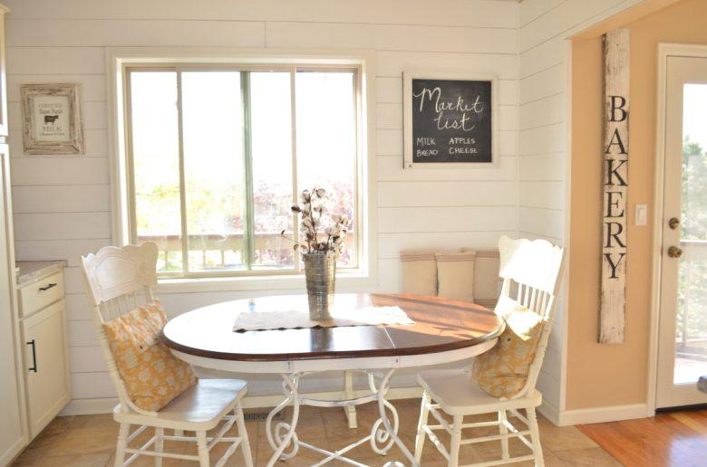 Breakfast Nook Planked Walls DIY Tutorial