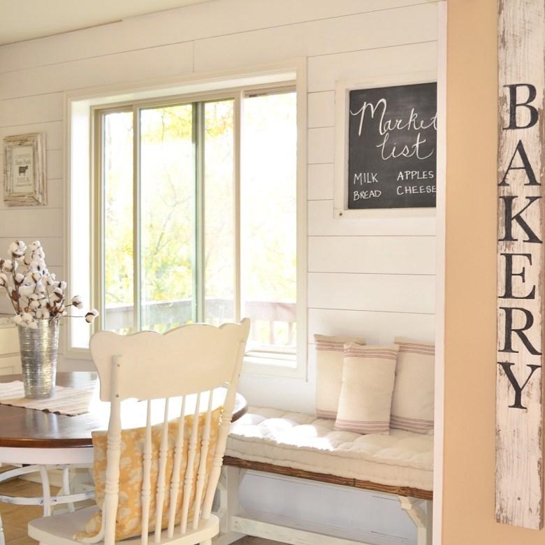 Breakfast Nook Planked Wall DIY Tutorial