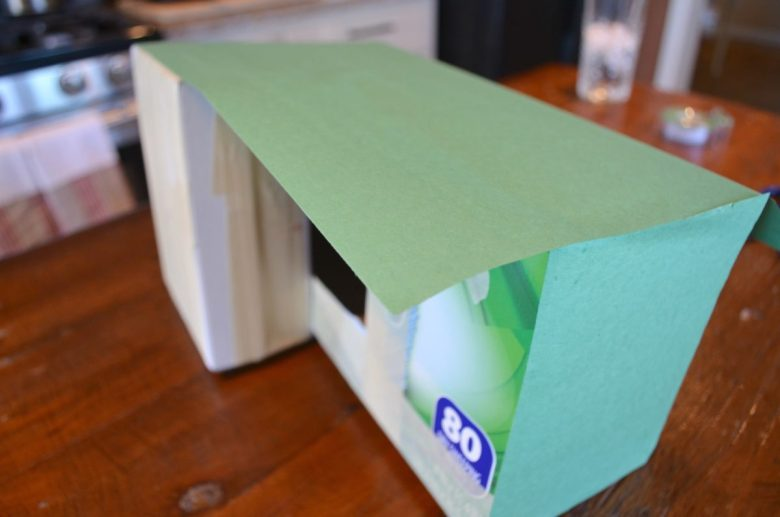 Paper on box Tractor