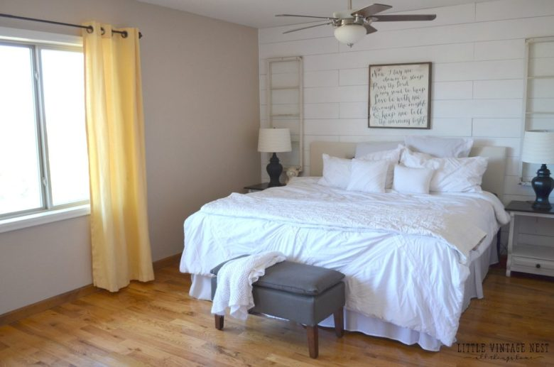 Master Bedroom Planked Wall