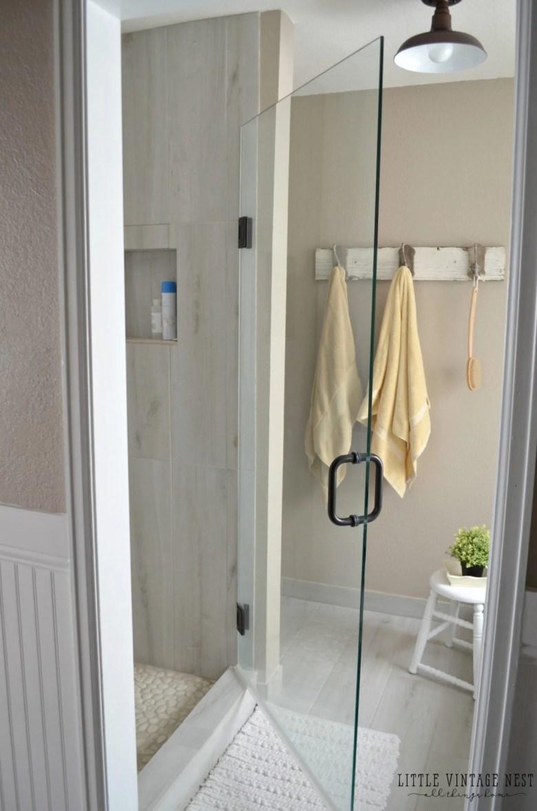 Farmhouse Master Bathroom Makeover Euroglass Shower