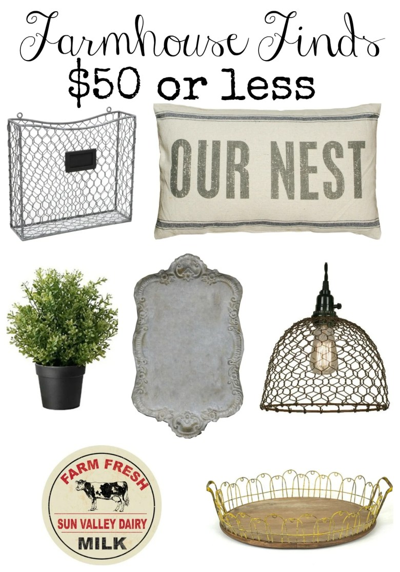 Farmhouse Finds $50 or less