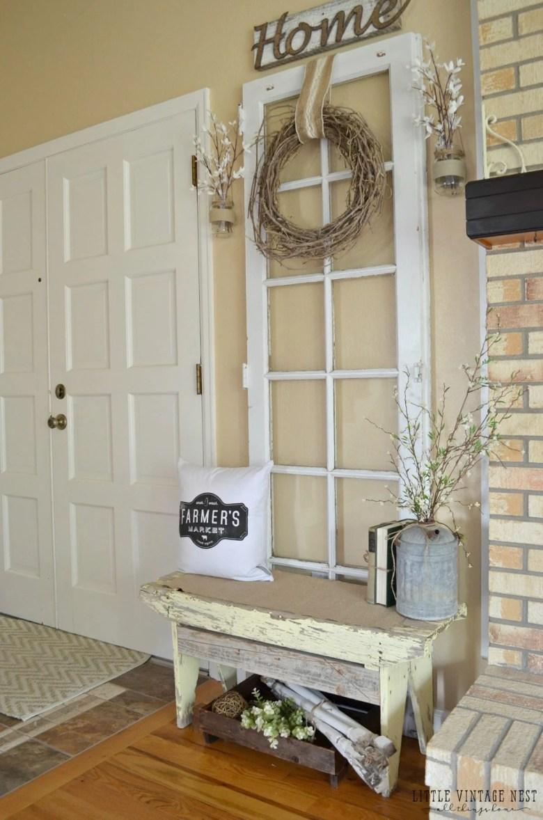 Old Door Vintage Inspired Entryway