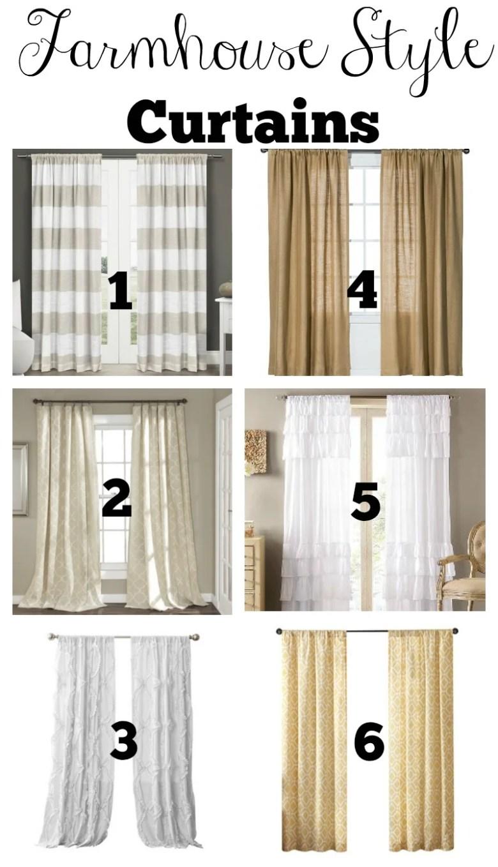 Budget Friendly Farmhouse Style Curtains
