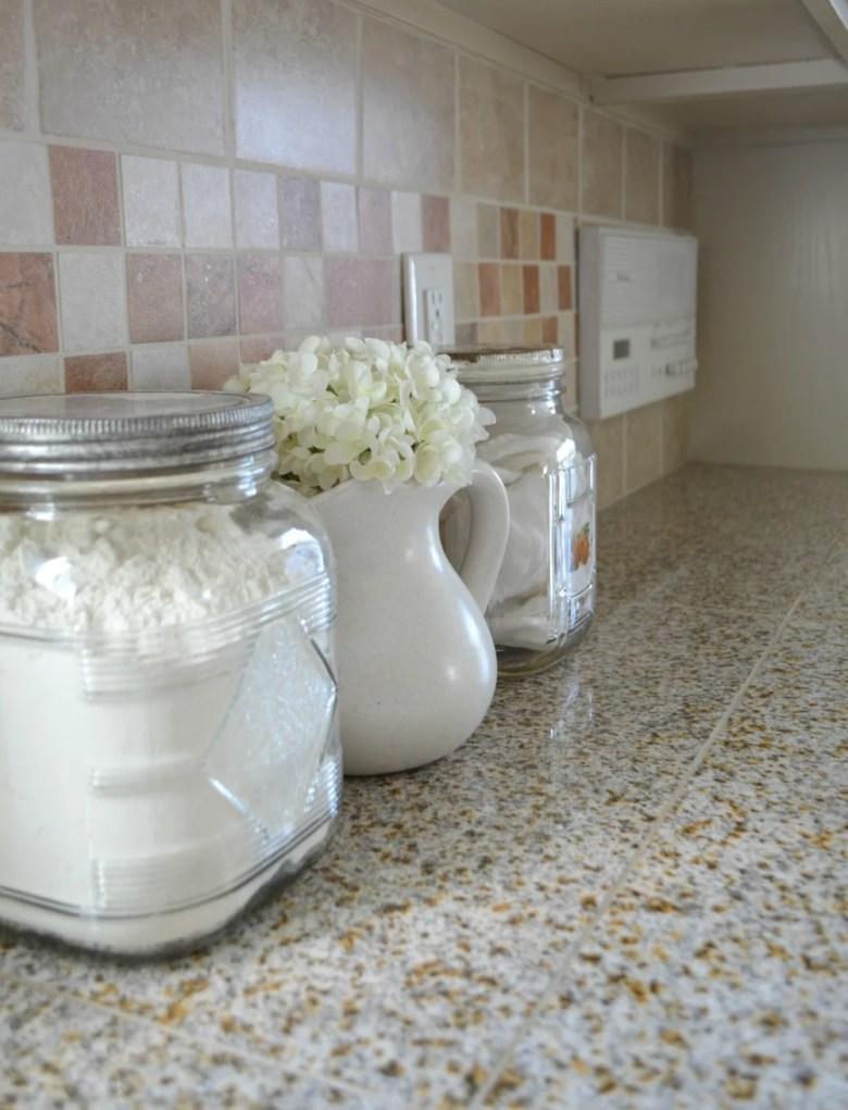 Farmhouse Kitchen Decor Vintage Jars