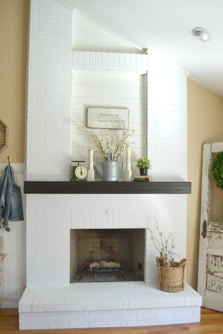 How to Paint a Brick Fireplace in 3 Simple Steps