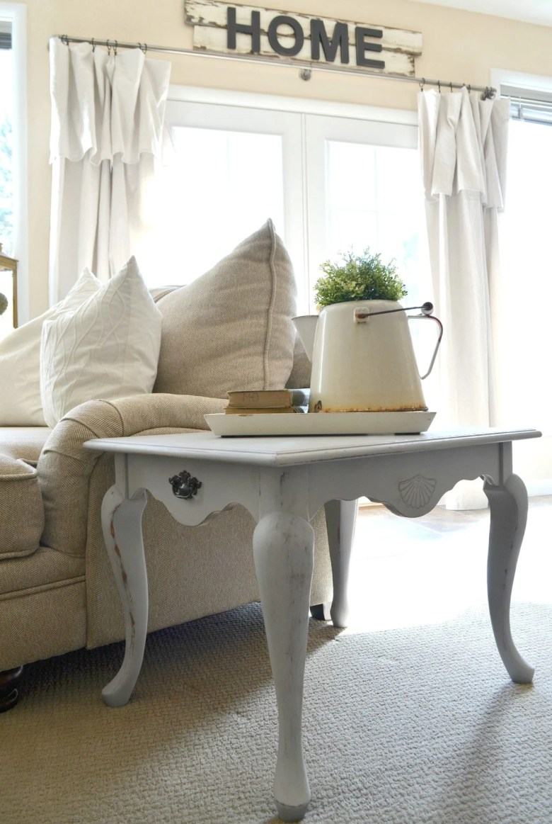 Review of Chalky Spray Paint on Side Table