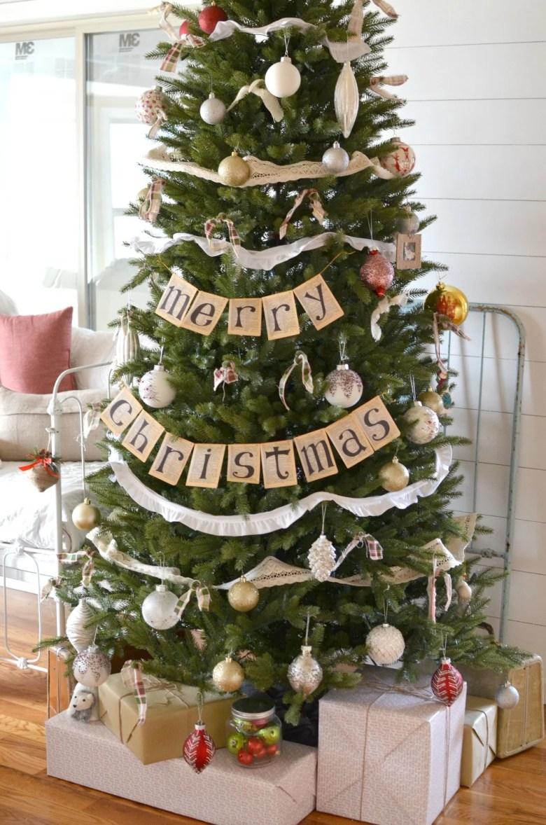Vintage Farmhouse Christmas Tree