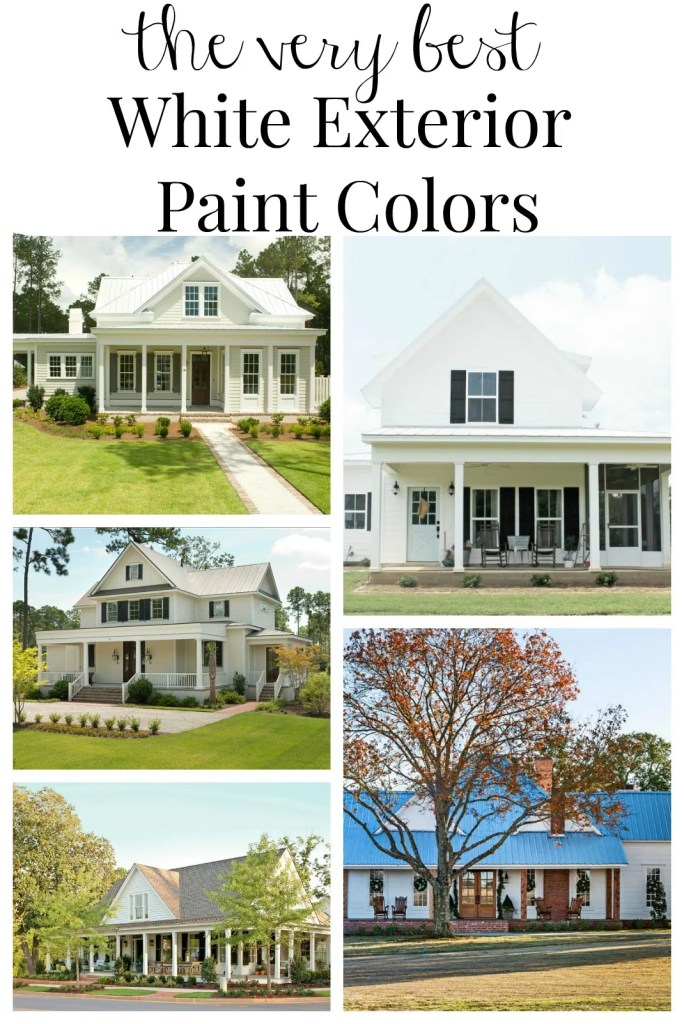The Very Best White Exterior Paint Colors