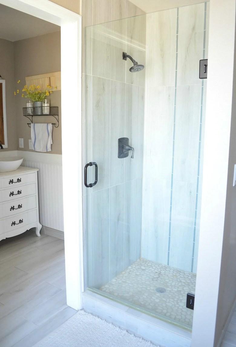 Modern Farmhouse Bathroom Shower