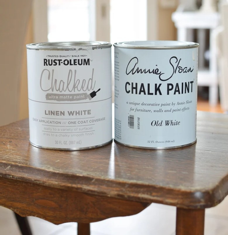 Annie Sloan Chalk Paint vs Rust-Oleum Chalked Paint. A Side by Side Comparison and Revew