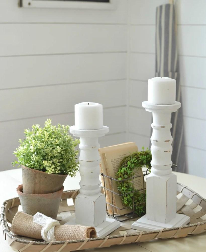 The Easiest DIY Farmhouse Candlesticks