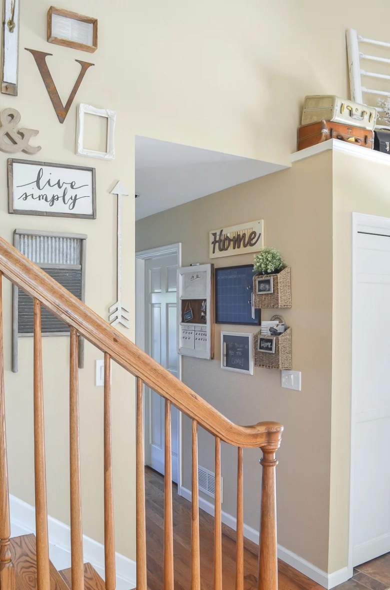 Farmhouse style family command center