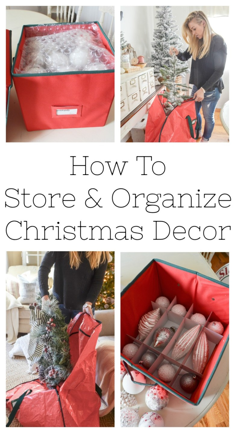 How to Store and Organize Christmas Decor. Easy storage tips for Christmas decor.