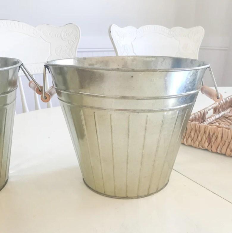 $5 Galvanized Bucket Makeover