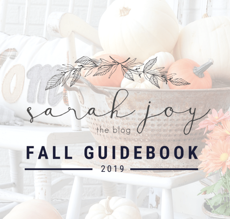 Free Fall Guidebook with easy fall decor ideas and a recipe for Warm Caramel Crumble!