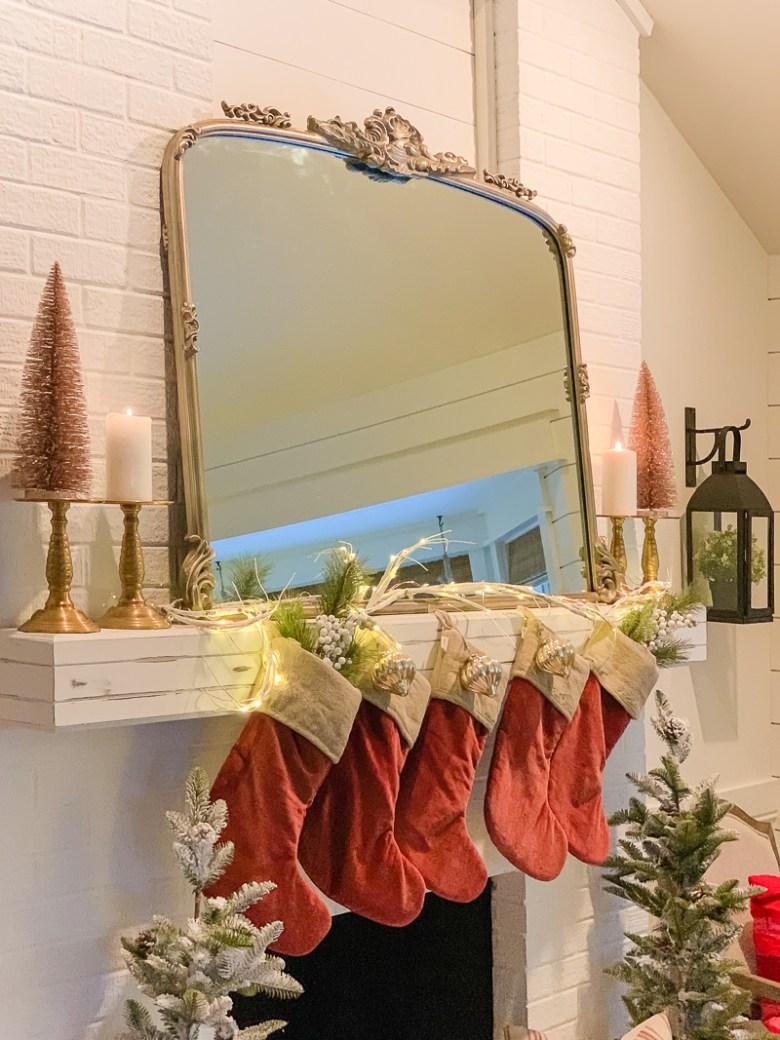 Glowing Christmas Mantel