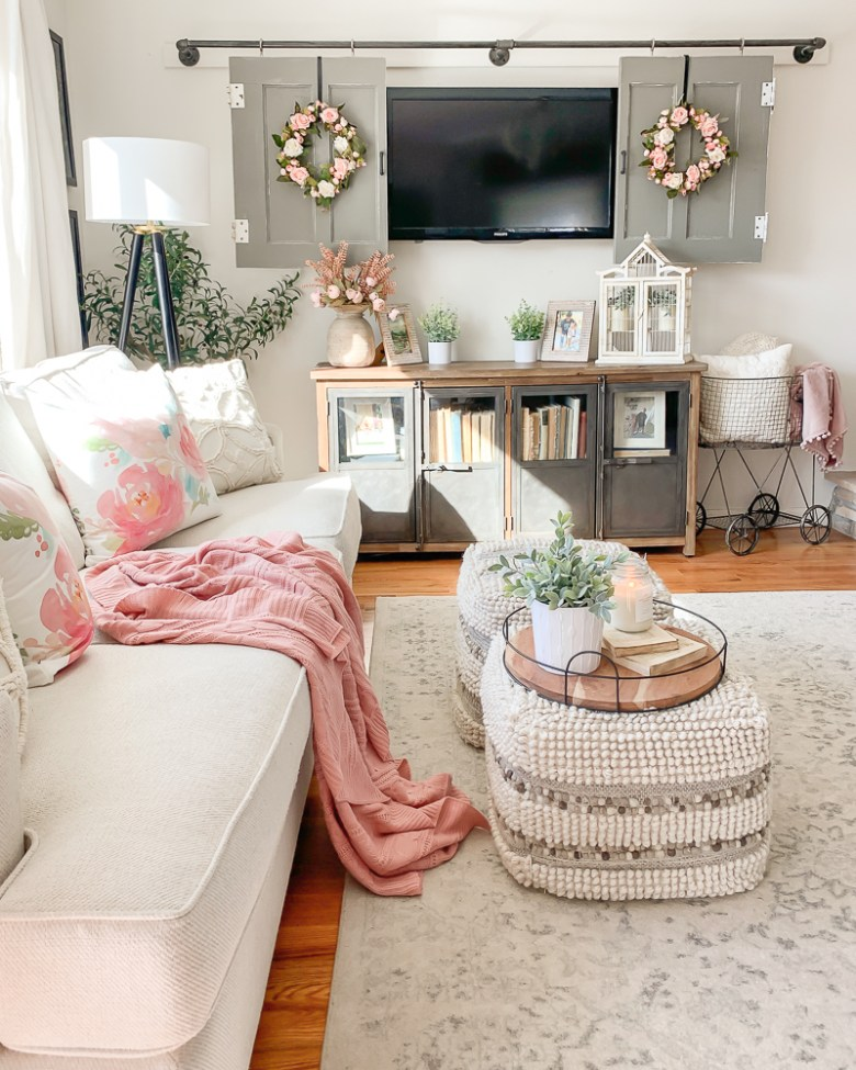Living Room Spring Refresh with Amazon Finds