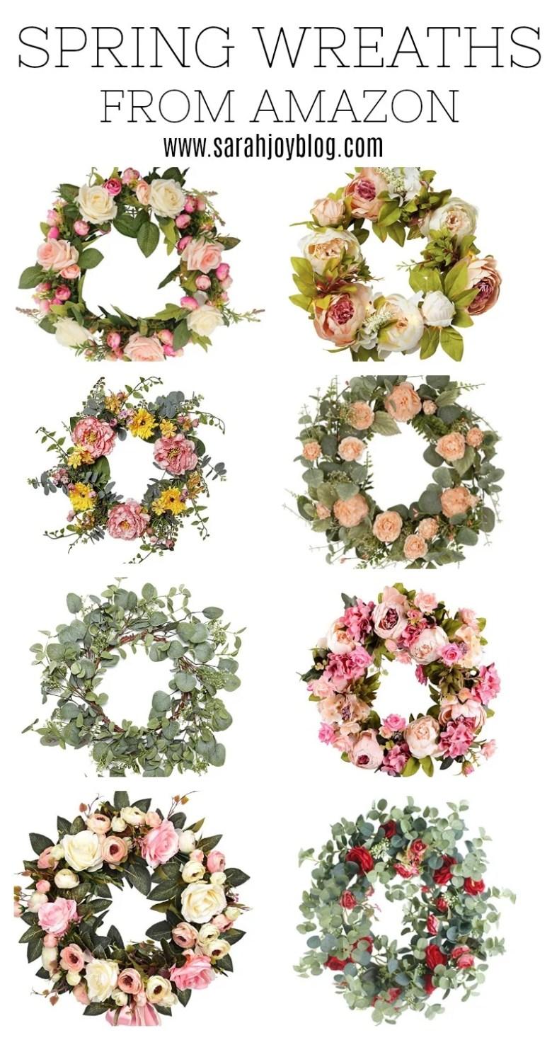 Spring Wreaths from Amazon under $40