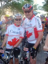 My first big race with my dad, the person who introduced me to cycling.