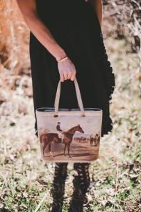 Vintage Delil Embroidered Horse Purse