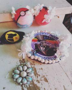Shoujo-fied pokeballs and dangerous drugs intelligence agency DEA patch
