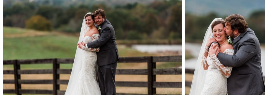 bride and groom farm wedding