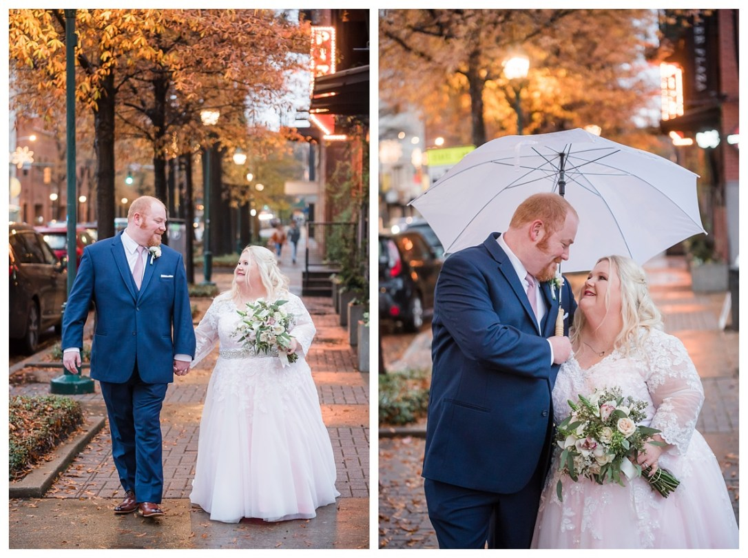 rainy wedding day in chattanooga